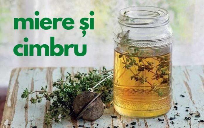 macerat cu miere si cimbru